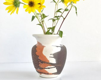Mid Century Royal Haeger Earth Wrap Vase