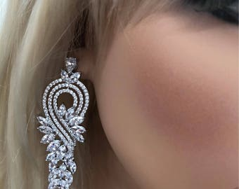 Glamorous Cubic Zirconia Earrings