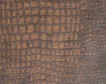 Snakeskin fabric: Crocadile Brown