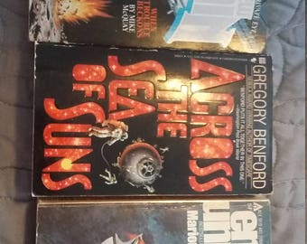 3 science fiction books about space.