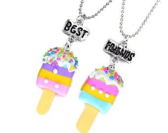 ice cream best friends necklaces