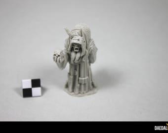 Skull witch figurine