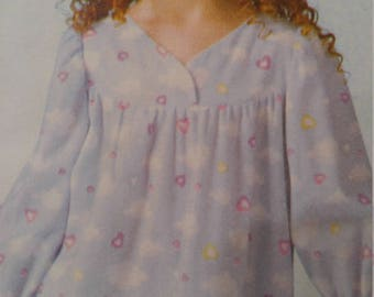 McCalls 4646, Girls nightgown, pajamas, robe pattern,  easy, sizes 2 3 4,  pattern has been trimmed, see description