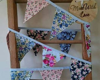 Pretty, floral bunting