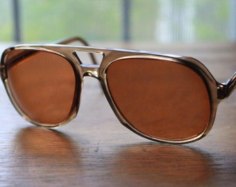 Vintage Brown 70s/80s Frames Retro Eyeglasses Sunglasses Eyewear