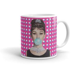 Audrey Hepburn Retro Mug