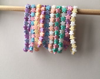 Pastel Kawaii Lolita Little Star Stretch Bracelet Cute Fairy Kei Jewellery
