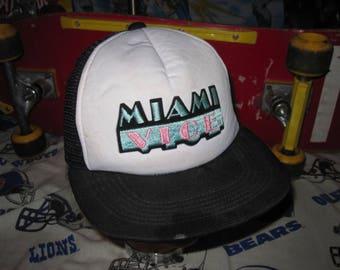 80s MIAMI VICE Snapback mesh truckers hat vintage