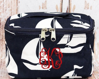Sail Away Cosmetic Case With Top Lid/ Travel Bag/ Gift for Teen/ Teen Girl Gifts/ Teenage Girl Gift/ Teen Gift