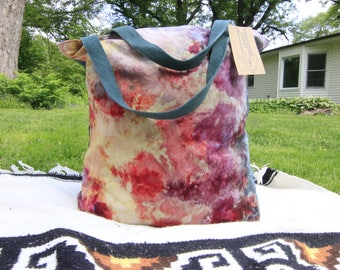 Hand-made/Hand-dyed Canvas Beach Bag