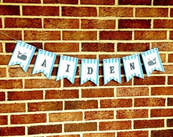 Custom Baby Name Banner, Baby Shower Banner, Maternity Shoot Prop
