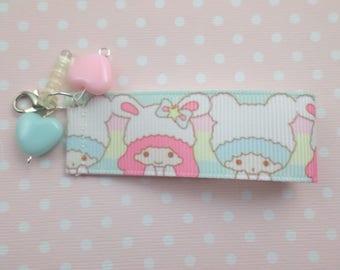 Rainbow Kawaii Little Twin Stars Inspired Cellphone Strap Charm
