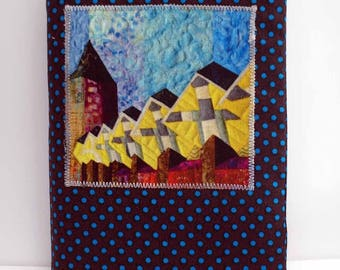 Fabric covered notebook with Cube houses (Rotterdam)