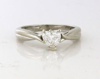 For your soulmate .47ct Heart Diamond Ring VS1 - G 14k white gold - DIAR10189