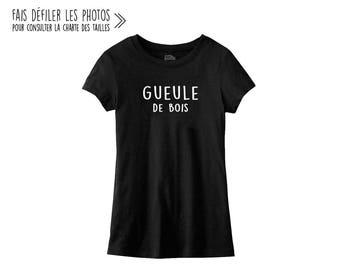 Gueule de bois.Women Fitted Tshirt.Petite Gazelle Atelier