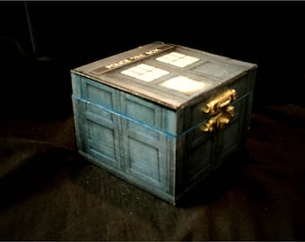 Tardis Doctor Who TIme Lord Inspired Proposal Engagement Ring Box Bearer Pillow Box