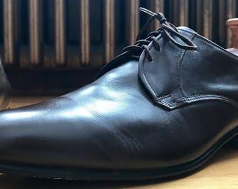 Florsheim for Simpson Canada Brown Calf Oxford Dress Shoes 11E Made in Canada EUC Vintage