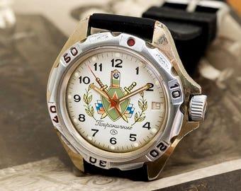 Wostok Vostok Komandirskie General generals Soviet Russian Men's Watch + new rubber strap