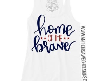 Home of the Brave Tri-blend Racerback