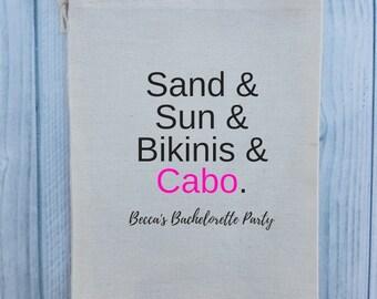 10 Bachelorette Party Favor, Hangover Kit, Survival Kit, Recovery Kit, Emergency Kit, Custom Bachelorette Party Bags - Helvetica Shirt