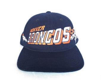 Vintage Denver Broncos Snapback Hat- Vintage Sports Specialties Snapback Hats
