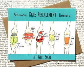 Knee Replacement Card, Funny Knee Replacement Card, Knee Replacement Get Well Card, Knee Arthoplasty Card