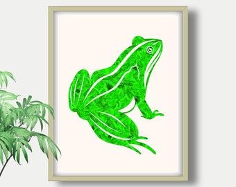 Frog, Frog Print, Frog Wall Art, Frog Artwork, Wall Art Prints,