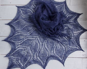 moher knit, Shawl for Wedding, knitting Lace shawl, knit shawl with leaves, Beautiful hand knit shawl, bridal shawl, knitting Lace shawl
