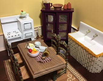 1:12 Scale Dollhouse Miniature Rustic/Country Kitchen Collection (sold separately)