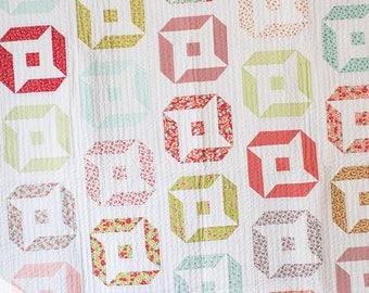 Friendly Stars PDF quilt Pattern/ modern quilt pattern/ jelly roll quilt pattern/ star quilt pattern/ jelly roll quilt/ quilt pattern/ quilt