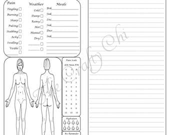 PRINTED Female Pain Journal 2.0 For Your Traveler's Notebook Insert DO2P