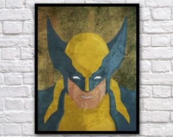 "Wolverine Vect-o-Grunge 8x10"" Digital Print"