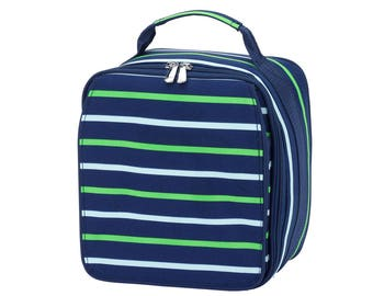 Navy with green stripe lunchbox