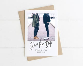 Engagement Photo Save the Date, Polaroid Save the Date, Printable, Personalised Save the Date, Custom Save the Date