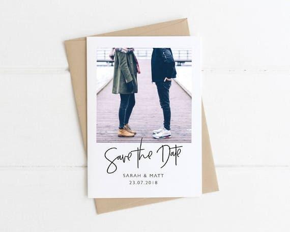 Engagement photo save the date polaroid save the date - Polaroid karten ...