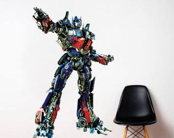 Optimus Prime Transformers Wall Decal Transformers Bedroom Designs  Transformers The Last Knight Wall Stickers Optimus Prime
