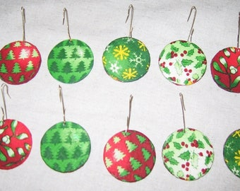Christmas tree balls decor decoupage paper and flat wood
