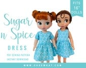 Animator Doll Clothes Sewing Pattern Disney ® Animator Doll Clothes  Sugar n Spice Dress & Pinafore Sewing Pattern Easy to Sew doll clothes