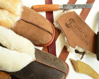 The Best Women's Sheepskin Slippers - Shearling Booties Fur House Shoes Leather Wool Suede