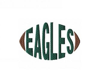 Eagles Football - Embroidery Design - Word Art - Word Design - Cap Hoop - Instant Download - Football - Spirit Towels - Sports