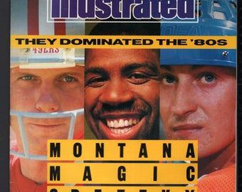 Vintage Magazine - Sports Illustrated : December 18, 1989 - Joe Montana / Wayne Gretzky / Magic Johnson