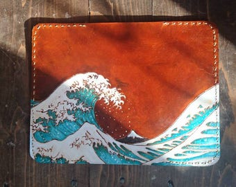 Custom leather Moleskine / Field Notes notebook cover