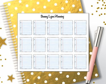 Notebook Paper Planner Stickers