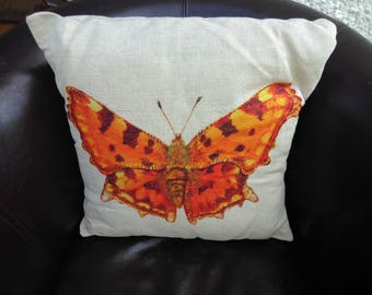Comma Butterfly cushion