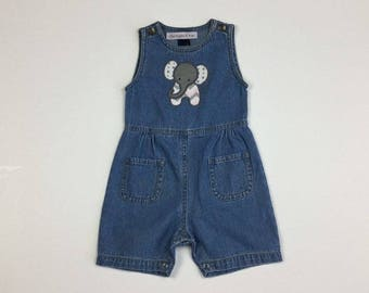 Elephant Romper - Denim
