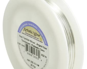 Artistic Wire 18, 20, 22, 24, 26, 28, 30 Guage 1/4 LB - Silver Plated, Tarnish Resistant