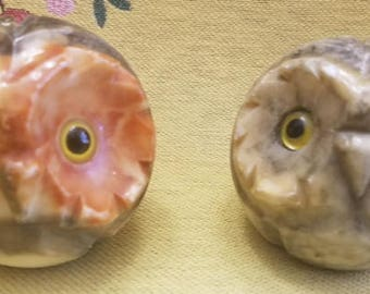 Alabaster Owl FIgures - Made in Italy