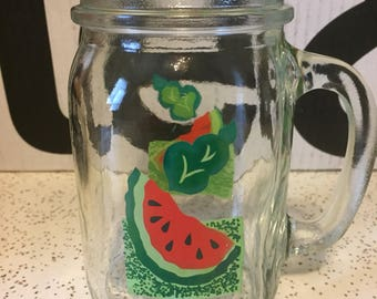 Vintage watermelon pint glass.
