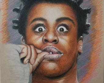 Original Drawing of Suzanne Crazy Eyes Warren from Orange is the New Black