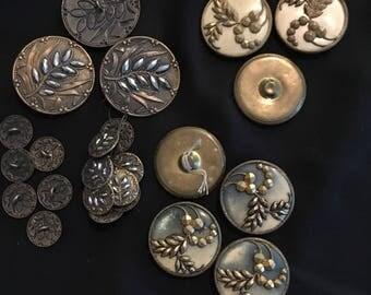 Antique/Vintage Metal Buttons